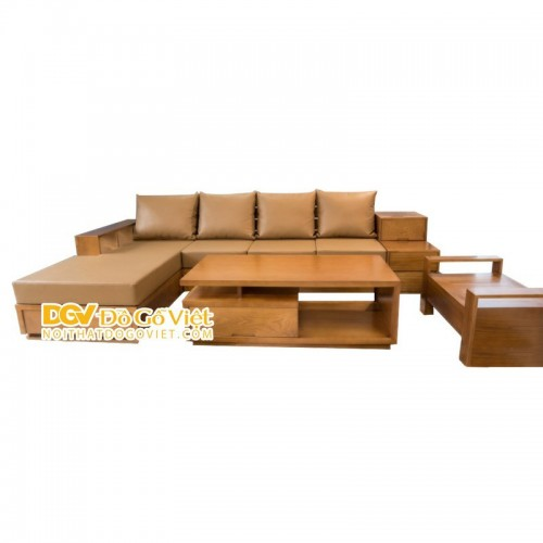 Bộ Ghế Gỗ Sofa Hiện Đại Góc L Có Nệm Ngồi Đẹp Giá Rẻ Giảm 20%