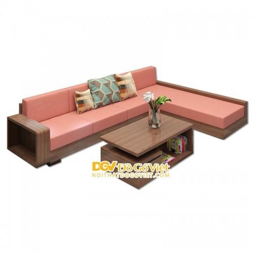 Ghế Sofa Gỗ Đẹp Góc Chữ L Gỗ Sồi Mỹ Giá Cạnh Tranh Nhất TPHCM