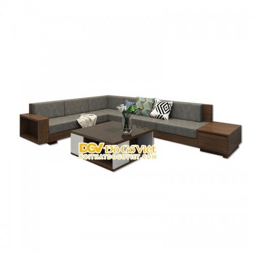 Sofa Gỗ Hiện Đại TPHCM Góc Chữ L Gỗ Sồi Tự Nhiên Đẹp Giá Tốt