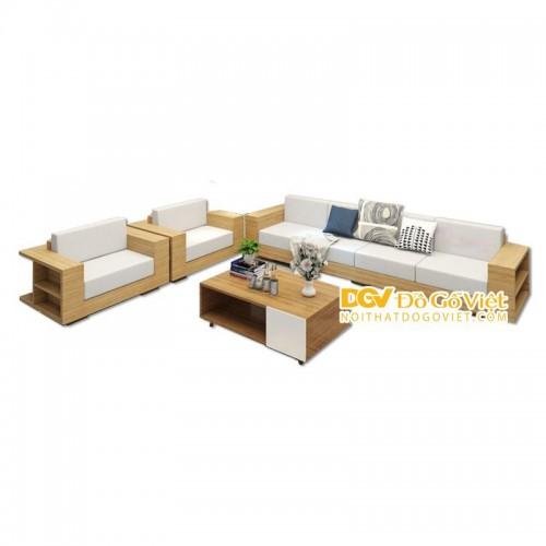 Sofa Gỗ Sồi Mặt Ngồi Nệm Trắng Hiện Đại Giá Cực Tốt TPHCM